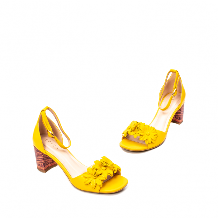 Sandale dama elegante, piele naturala, Y137T 1
