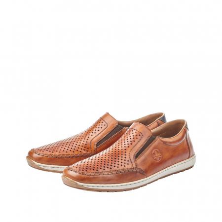 Pantofi barbat tip mocasin, piele naturala 08868-24 [6]
