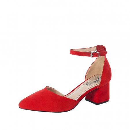 Pantofi eleganti dama, piele naturala de antilopa, 49150-330