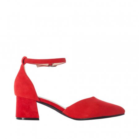 Pantofi eleganti dama, piele naturala de antilopa, 49150-331