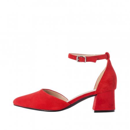 Pantofi eleganti dama, piele naturala de antilopa, 49150-334
