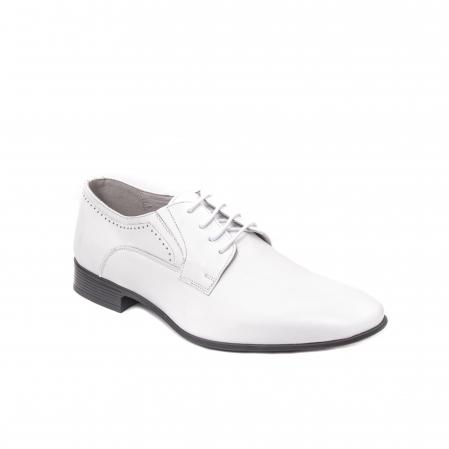 Pantofi barbati eleganti piele naturala Catali 192545 alb0