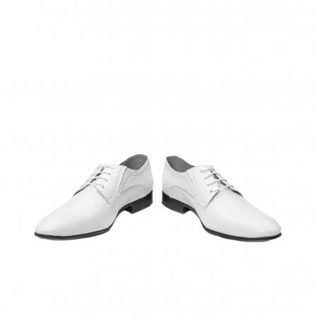 Pantofi barbati eleganti piele naturala Catali 192545 alb4