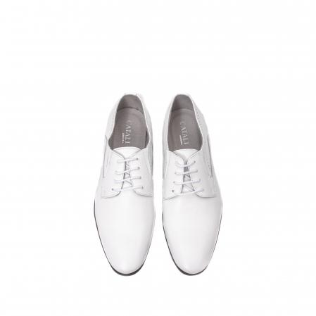 Pantofi barbati eleganti piele naturala Catali 192545 alb5