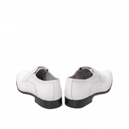 Pantofi barbati eleganti piele naturala Catali 192545 alb6