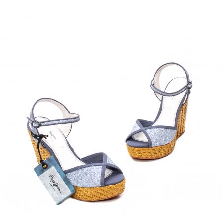 Sandale dama elegante, piele naturala, WALKER GLAM, 90298-5851