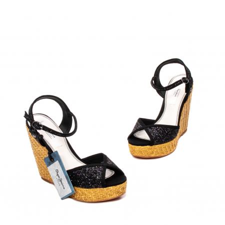 Sandale dama elegante din piele naturala, Walker glam, 90298-9991
