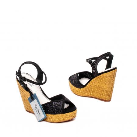 Sandale dama elegante din piele naturala, Walker glam, 90298-9992