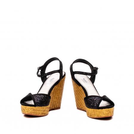 Sandale dama elegante din piele naturala, Walker glam, 90298-9994