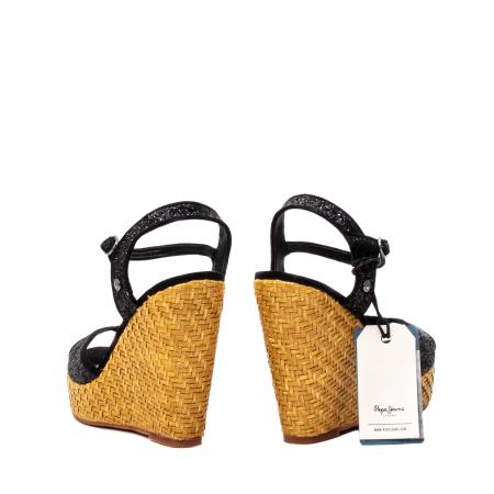 Sandale dama elegante din piele naturala, Walker glam, 90298-9996
