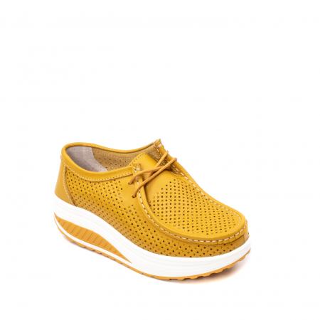 Pantofi dama casual de vara, piele naturala, 2074 M0