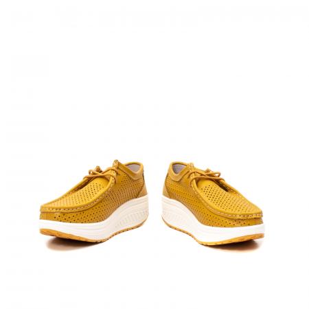 Pantofi dama casual de vara, piele naturala, 2074 M4