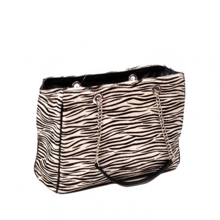 Poseta blana naturala ,Zebra By YSL2
