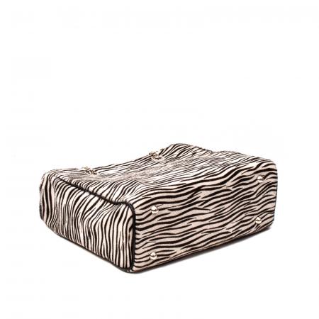Poseta blana naturala ,Zebra By YSL3