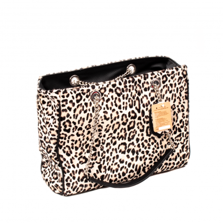 Poseta blana naturala ,Leopard By YSL0