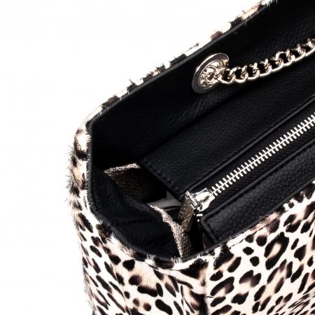 Poseta blana naturala ,Leopard By YSL1