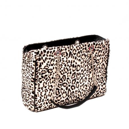 Poseta blana naturala ,Leopard By YSL2