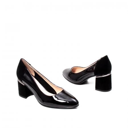 Pantofi eleganti dama, piele naturala lacuita,Y362