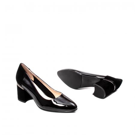 Pantofi eleganti dama, piele naturala lacuita,Y363