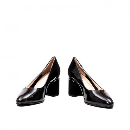 Pantofi eleganti dama, piele naturala lacuita,Y364