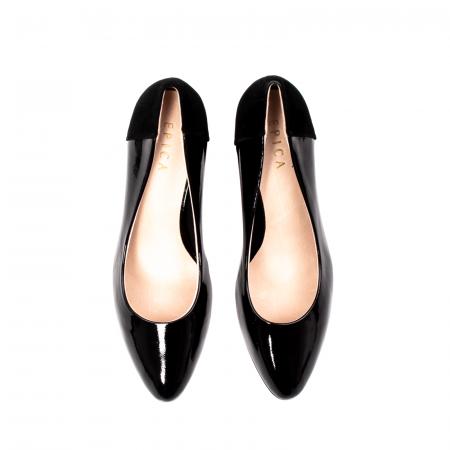 Pantofi eleganti dama, piele naturala lacuita,Y365
