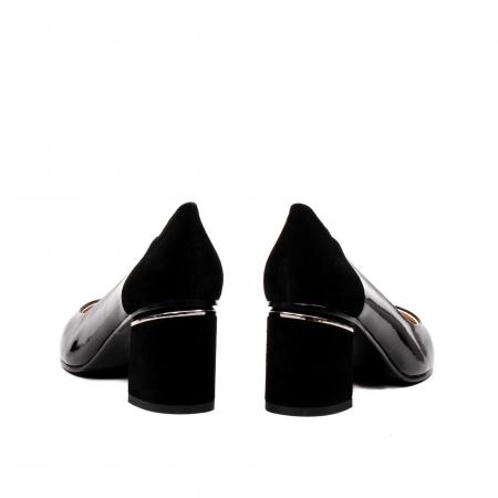 Pantofi eleganti dama, piele naturala lacuita,Y366