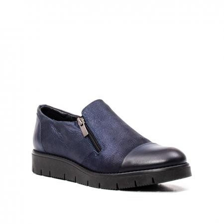 Pantofi casual dama, piele naturala, 182634AMA BL0