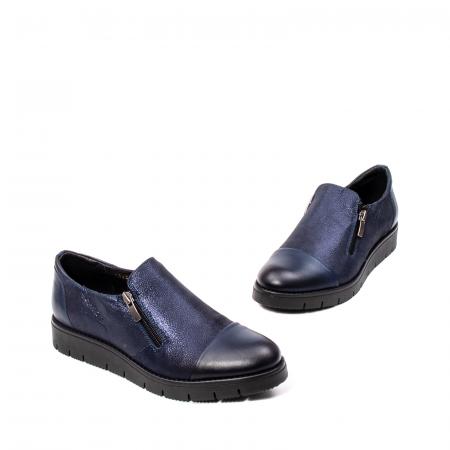 Pantofi casual dama, piele naturala, 182634AMA BL1