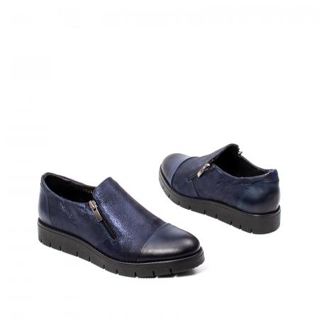 Pantofi casual dama, piele naturala, 182634AMA BL2