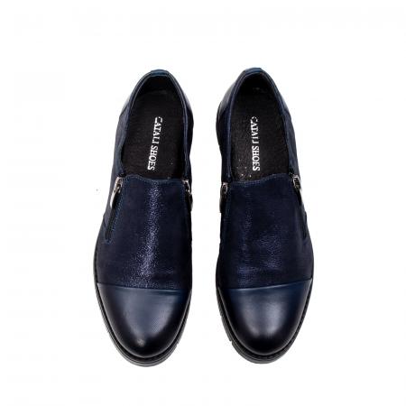 Pantofi casual dama, piele naturala, 182634AMA BL5