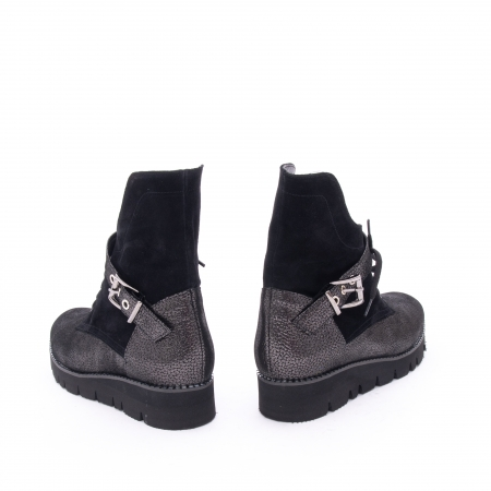 Ghete dama casual cu talpa groasa Nike Invest G1159, negru-argintiu4