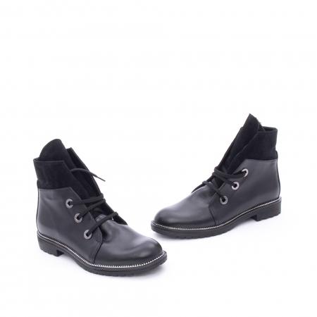 Botine dama casual piele naturala, Nike Invest g1149, negru1