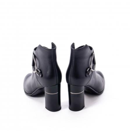 Botine elegante dama, piele naturala, Epica, negru 1255S6