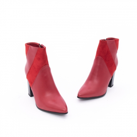 Botine elegante dama VN1734-2 red1