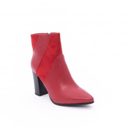 Botine elegante dama VN1734-2 red0