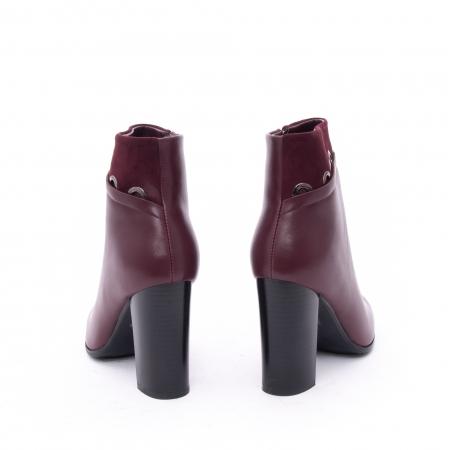 Botine elegante dama VN9327-3 burgundy4