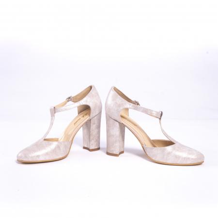 Pantofi dama eleganti decupati piele Nike invest s1041, alb auriu4
