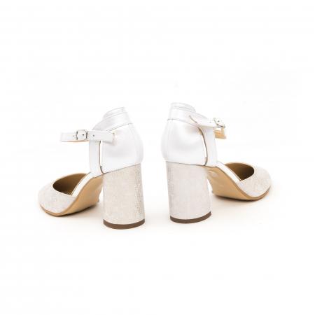 Pantofi dama eleganti decupati piele Nike invest 1207, alb auriu6