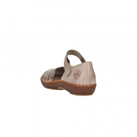 Pantofi de vara dama, piele naturala, M1656-622