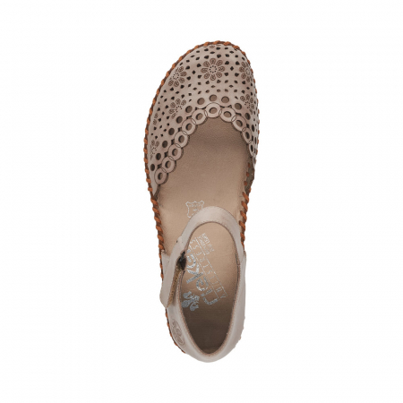 Pantofi de vara dama, piele naturala, M1656-623