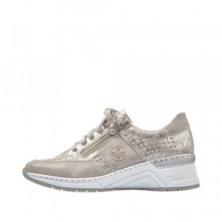 Pantofi dama casual din piele ecologica N4327-804