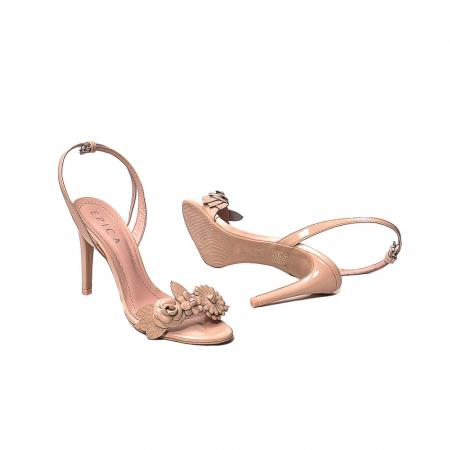 Sandale dama casual, piele naturala, WE6-87553 M2-Z, Nude [3]