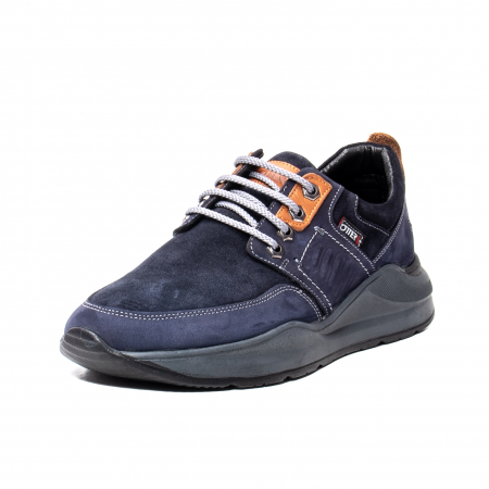 Pantofi barbat, piele naturala nabuc, OT215159 bleumarin