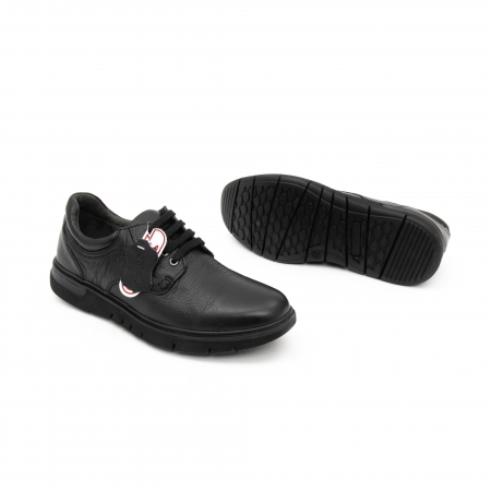 Pantofi barbati casual ,piele naturala Otter 2804, negru2