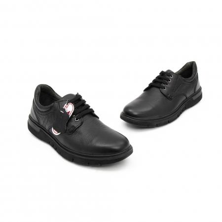 Pantofi barbati casual ,piele naturala Otter 2804, negru1