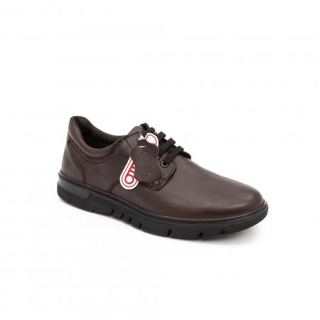 Pantofi barbati casual piele naturala Otter 2804, maro0