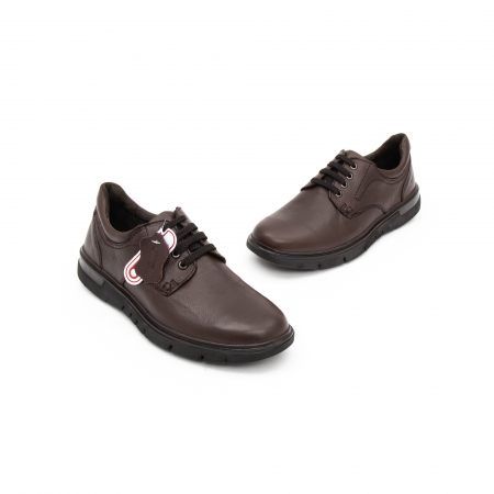 Pantofi barbati casual piele naturala Otter 2804, maro2