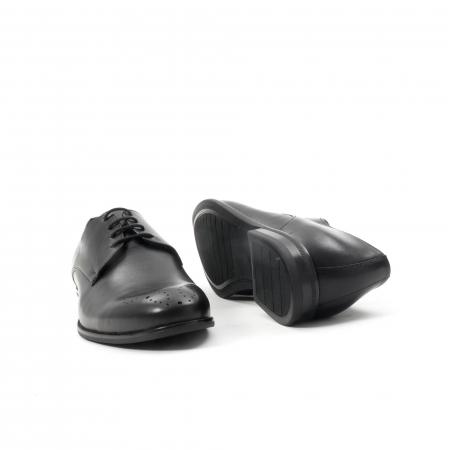 Pantofi barbati eleganti, piele naturala, Leofex 898, negru3