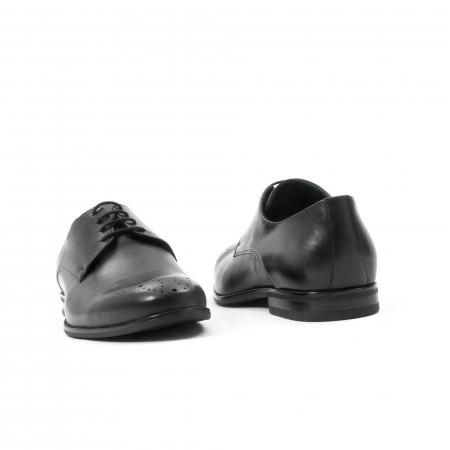 Pantofi barbati eleganti, piele naturala, Leofex 898, negru2