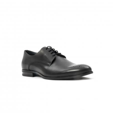 Pantofi barbati eleganti, piele naturala, Leofex 898, negru0